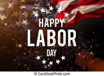 Labor day banner, patriotic background - Happy Labor day...