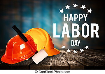 Labor day banner, patriotic background