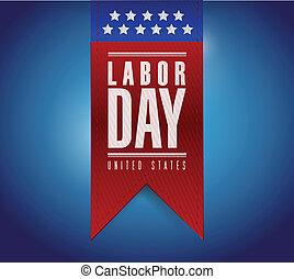 labor day banner sign illustration design