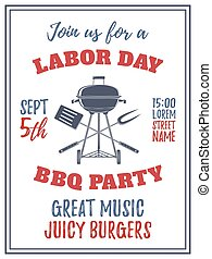 Labor Day barbecue party background.
