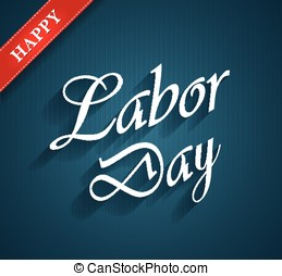 Labor Day blue poster