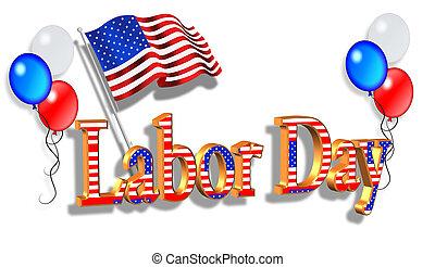 Labor Day Border graphic - Illustration composition...