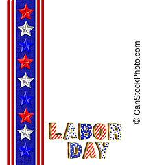 Labor Day Border illustration