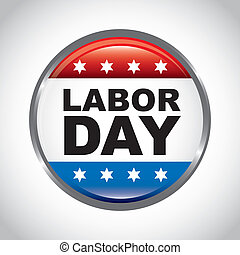 labor day button over gray background vector illustration