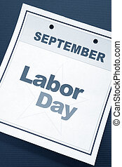 Labor Day, calendar date for background