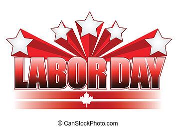 Labor day Canada illustration