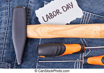 Labor Day card and instruments.