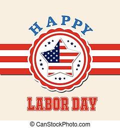 Labor day card design