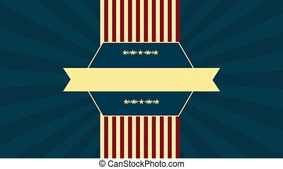 labor day card with USA flag