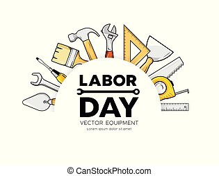Labor day Construction equipment vector circle design isolated