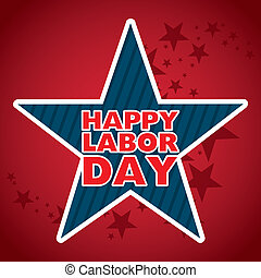 labor day design over red background vector illustration