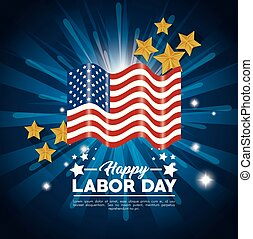 Labor day design - Flag of Labor day in Usa theme Vector ...