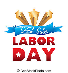 labor day over white background vector illustration