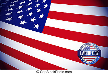 labor day flag sign illustration design graphic