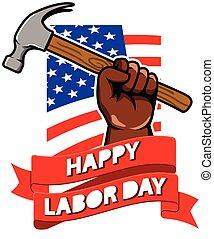 Labor Day Greeting Badge