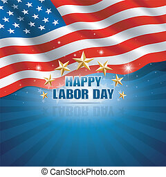 Labor Day in the American Background. Vector illustration