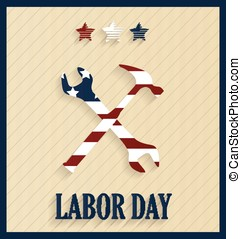 Labor Day retro poster