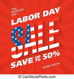 Labor Day Sale advertising banner