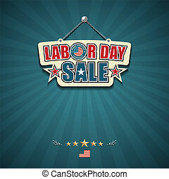 Labor day sale American signs hanging with chain design...