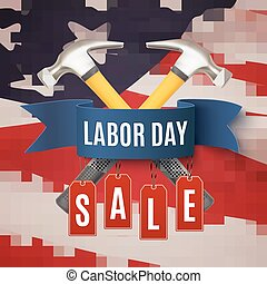 Labor Day sale background template.