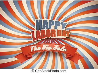 Labor day sale background. Vector