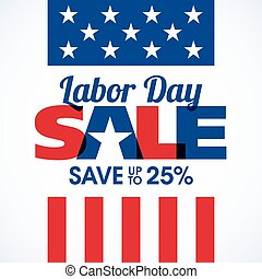 Labor Day Sale banner - Labor Day Sale advertising banner...