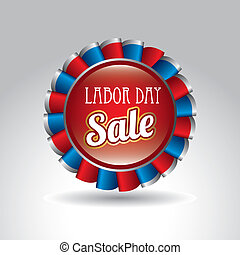 labor day sale over gray background vector illustration