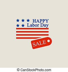Labor day sale logo, flat style - Labor day sale logo. Flat...