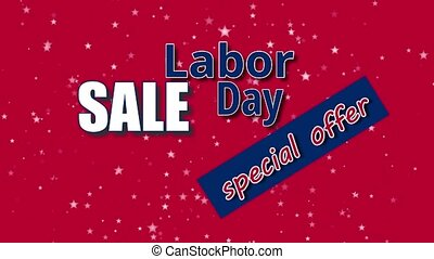 Labor Day Sale, special offer banner text