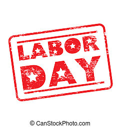 labor day seal over white background vector illustration