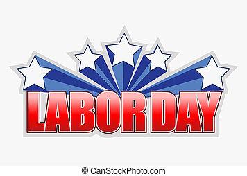 labor day sign illustration design
