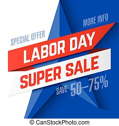 Labor Day Super Sale advertising banner