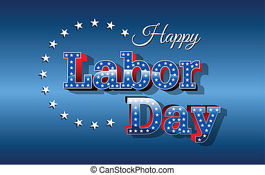 Labor Day, United States of America, vector