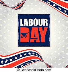 Labor Day Weekend  advertising banner design