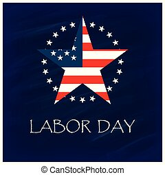 Labor Day with USA star Design