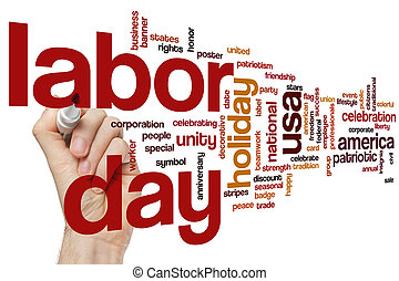 Labor day word cloud concept