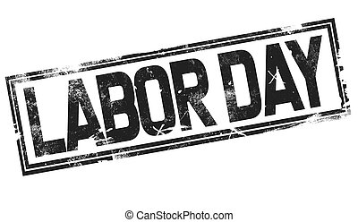 Labor day word with black frame