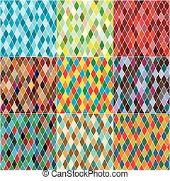 labor de retazos, harlequin's, patterns., seamless,...