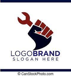 Labor Fist of struggle logo vector