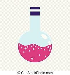 labor, rosa, flasche, ikone, wohnung, stil