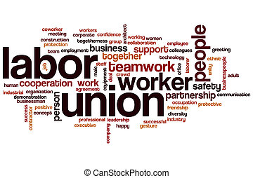 Labor union word cloud concept