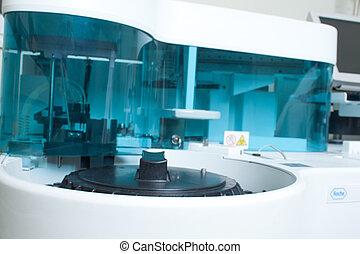 laboratório, analisando, equipamento