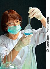laboratório, assistente, laboratório