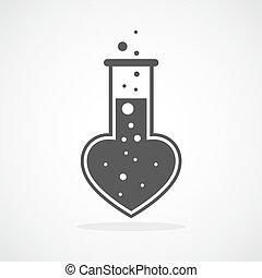 laboratório, de, a, love., vetorial, ilustração