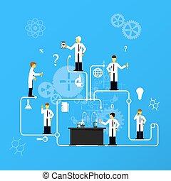 laboratório, infographics., estudos