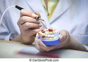 laboratórium, fogászati