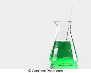 laboratórium, palackok, csoport