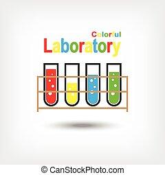 laboratórium, színes