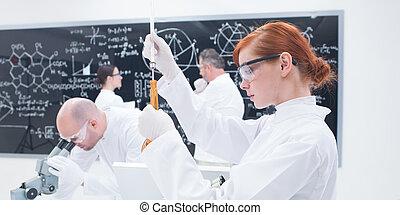 laboratoire, études, gens
