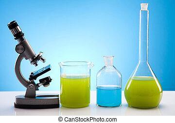 laboratoire, biochimie, verre